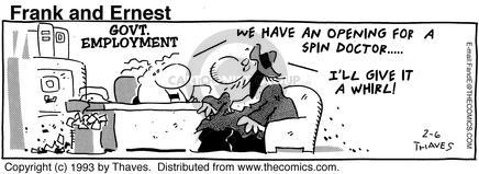 Comic Strip Bob Thaves Tom Thaves  Frank and Ernest 1993-02-06 employee