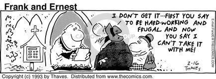 Comic Strip Bob Thaves Tom Thaves  Frank and Ernest 1993-02-16 congregation