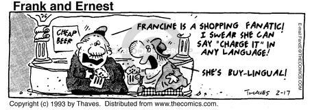 Cartoonist Bob Thaves Tom Thaves  Frank and Ernest 1993-02-17 swear