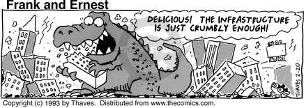 Comic Strip Bob Thaves Tom Thaves  Frank and Ernest 1993-02-20 eat