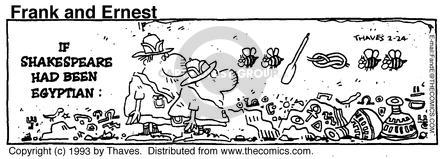Comic Strip Bob Thaves Tom Thaves  Frank and Ernest 1993-02-24 excavation