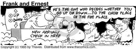 Cartoonist Bob Thaves Tom Thaves  Frank and Ernest 1993-03-03 sky