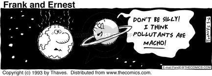 Cartoonist Bob Thaves Tom Thaves  Frank and Ernest 1993-03-06 sky
