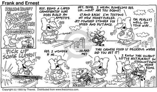 Cartoonist Bob Thaves Tom Thaves  Frank and Ernest 1993-03-07 captain