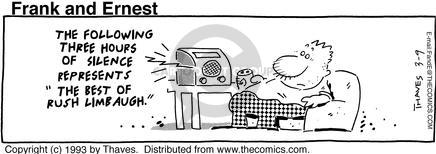 Comic Strip Bob Thaves Tom Thaves  Frank and Ernest 1993-03-09 silence