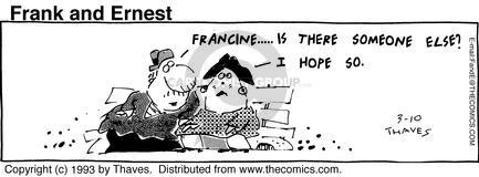 Cartoonist Bob Thaves Tom Thaves  Frank and Ernest 1993-03-10 couple