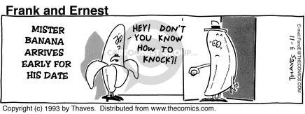 Comic Strip Bob Thaves Tom Thaves  Frank and Ernest 1993-03-11 knock