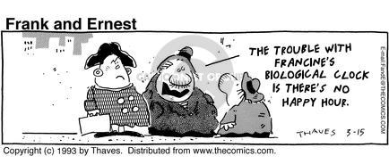 Cartoonist Bob Thaves Tom Thaves  Frank and Ernest 1993-03-15 biology