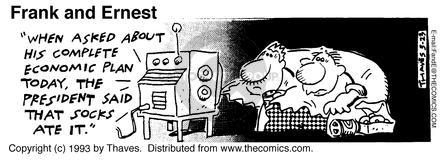 Comic Strip Bob Thaves Tom Thaves  Frank and Ernest 1993-03-23 eat