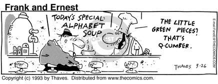 Cartoonist Bob Thaves Tom Thaves  Frank and Ernest 1993-03-26 counter