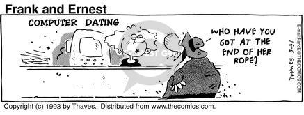 Comic Strip Bob Thaves Tom Thaves  Frank and Ernest 1993-03-31 computer