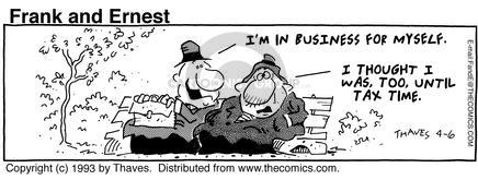 Comic Strip Bob Thaves Tom Thaves  Frank and Ernest 1993-04-06 employ