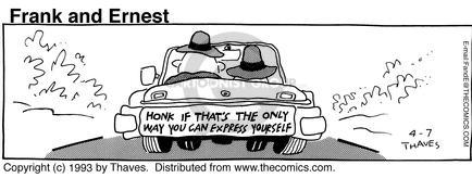 Comic Strip Bob Thaves Tom Thaves  Frank and Ernest 1993-04-07 honk