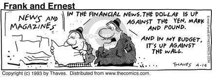 Comic Strip Bob Thaves Tom Thaves  Frank and Ernest 1993-04-14 finance