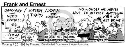 Comic Strip Bob Thaves Tom Thaves  Frank and Ernest 1993-04-16 wonder