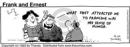 Cartoonist Bob Thaves Tom Thaves  Frank and Ernest 1993-04-20 fun