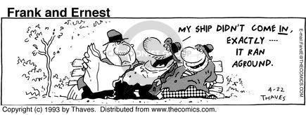 Comic Strip Bob Thaves Tom Thaves  Frank and Ernest 1993-04-22 wreck