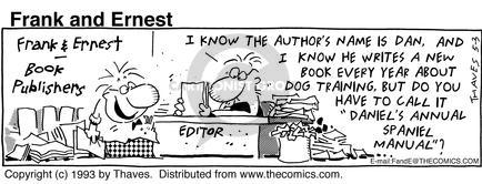 Cartoonist Bob Thaves Tom Thaves  Frank and Ernest 1993-05-03 book editor