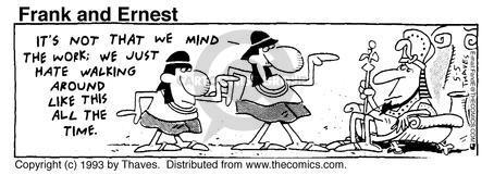 Comic Strip Bob Thaves Tom Thaves  Frank and Ernest 1993-05-05 pharaoh