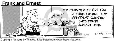 Comic Strip Bob Thaves Tom Thaves  Frank and Ernest 1993-05-11 finance