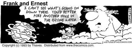 Cartoonist Bob Thaves Tom Thaves  Frank and Ernest 1993-05-13 sky