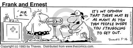 Comic Strip Bob Thaves Tom Thaves  Frank and Ernest 1993-05-14 weight