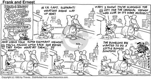 Cartoonist Bob Thaves Tom Thaves  Frank and Ernest 1993-05-16 captain