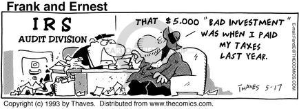 Comic Strip Bob Thaves Tom Thaves  Frank and Ernest 1993-05-17 invest