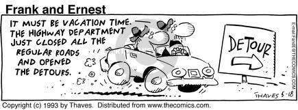 Comic Strip Bob Thaves Tom Thaves  Frank and Ernest 1993-05-18 department