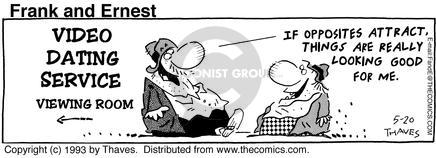 Cartoonist Bob Thaves Tom Thaves  Frank and Ernest 1993-05-20 dater