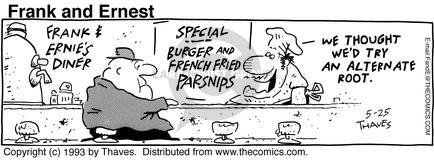 Cartoonist Bob Thaves Tom Thaves  Frank and Ernest 1993-05-25 counter