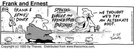 Comic Strip Bob Thaves Tom Thaves  Frank and Ernest 1993-05-25 alternate