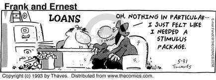Cartoonist Bob Thaves Tom Thaves  Frank and Ernest 1993-05-31 money