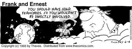 Comic Strip Bob Thaves Tom Thaves  Frank and Ernest 1993-06-04 Financial Market
