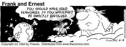 Comic Strip Bob Thaves Tom Thaves  Frank and Ernest 1993-06-04 involvement