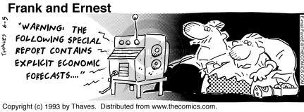Comic Strip Bob Thaves Tom Thaves  Frank and Ernest 1993-06-05 forecast