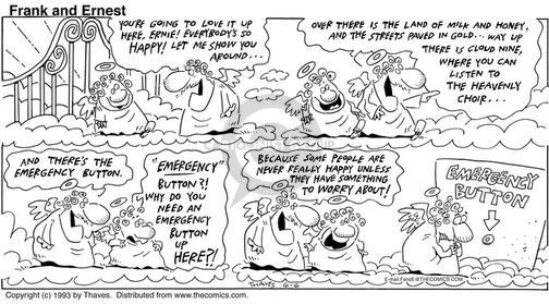 Comic Strip Bob Thaves Tom Thaves  Frank and Ernest 1993-06-06 worry