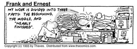 Comic Strip Bob Thaves Tom Thaves  Frank and Ernest 1993-06-10 employee
