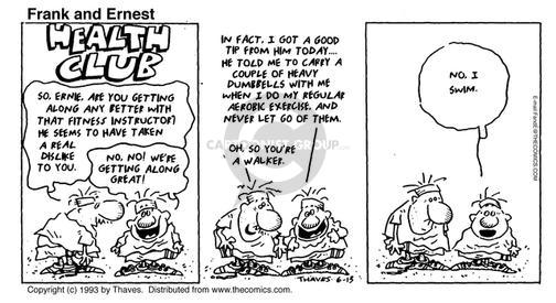 Comic Strip Bob Thaves Tom Thaves  Frank and Ernest 1993-06-13 weight