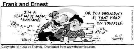 Cartoonist Bob Thaves Tom Thaves  Frank and Ernest 1993-06-17 couple