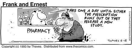 Comic Strip Bob Thaves Tom Thaves  Frank and Ernest 1993-06-18 research study