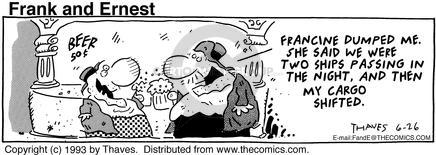 Comic Strip Bob Thaves Tom Thaves  Frank and Ernest 1993-06-26 boat