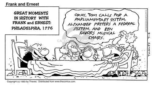 Cartoonist Bob Thaves Tom Thaves  Frank and Ernest 1993-07-04 Thomas Jefferson