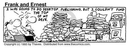 Comic Strip Bob Thaves Tom Thaves  Frank and Ernest 1993-07-07 desktop