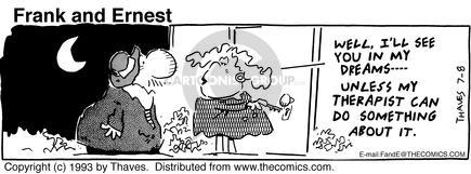 Cartoonist Bob Thaves Tom Thaves  Frank and Ernest 1993-07-08 couple