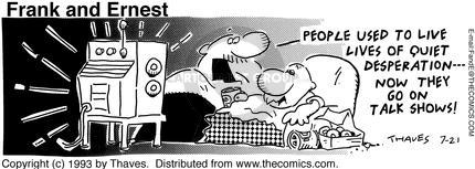 Cartoonist Bob Thaves Tom Thaves  Frank and Ernest 1993-07-21 communicate