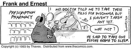 Comic Strip Bob Thaves Tom Thaves  Frank and Ernest 1993-07-24 yet