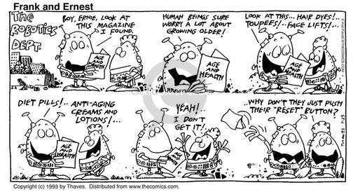 Comic Strip Bob Thaves Tom Thaves  Frank and Ernest 1993-07-25 worry
