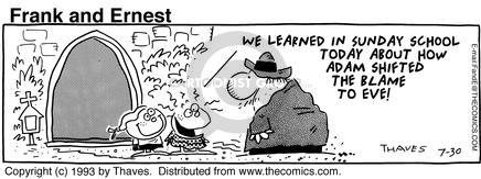 Comic Strip Bob Thaves Tom Thaves  Frank and Ernest 1993-07-30 fall