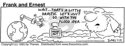 Cartoonist Bob Thaves Tom Thaves  Frank and Ernest 1993-07-31 sky